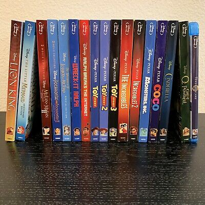 Lot of 19 Disney and Pixar Blu Ray Animated Childrens Movies, with Slipcover