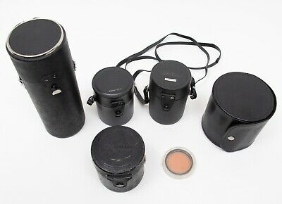 Vintage Lot of Camera Lens Cases CANON KNOICA SIGMA