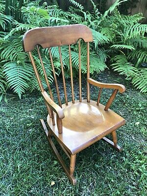 Vintage Tell City Solid Hard Rock Maple Andover Vintage Child's Rocking Chair