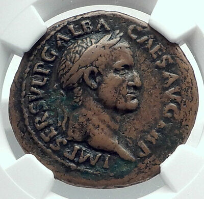 GALBA 68AD Rare Authentic Ancient Rome Genuine Original Roman Coin NGC i78521
