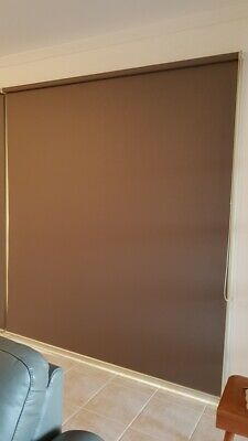 Chocolate Brown Roller Blind. Approx measurement 192w x 215h cm