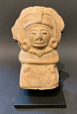 Large Mayan Seated Dignitary Flute ~ Pre Colombian  600 AD - 800 AD