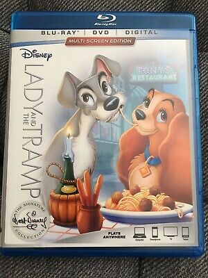 Lady and the Tramp (Blu-ray/DVD, 2012, 3-Disc Set, Diamond Edition Includes...