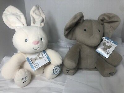 Baby Gund Lot Sing & Play Flappy The Elephant  & Flora The Bunny Peek-A-Boo