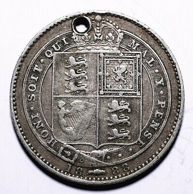 1888 UK One 1 Shilling - Victoria 2nd portrait; 1st type - Lot 519