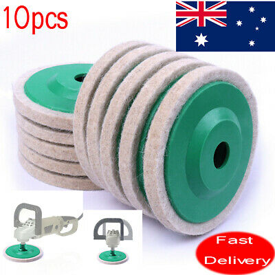 AU 10pcs 96mm Wool Buffing Polishing Wheel Felt Pad 4'' Buffer Buff Polish Disc