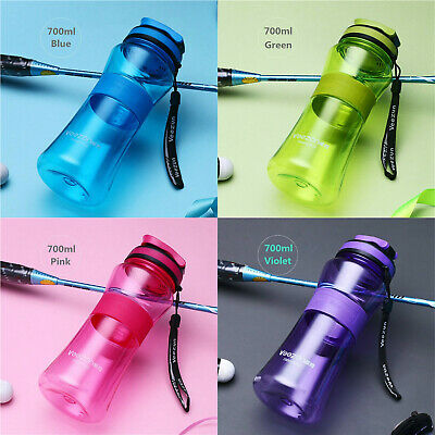 700ML Portable Plastic Sports Water Bottle Drink Cycling Running Bottle W/ Mouth