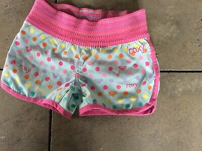 roxy girls shorts size 6 cute in blue and pink
