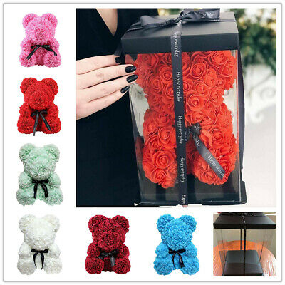 Fashion 40/25 CM Teddy Bear Huge Luxury Foam Rose Valentine's Day Gift UK