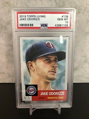 2019 Topps Living Set #138 JAKE ODORIZZI PSA 10 *In PSA Fit Sleeve!* POP 57