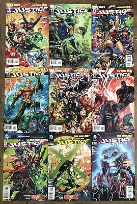 DC Comics New 52 Justice League Large Incomplete Comic Book Lot. FN+