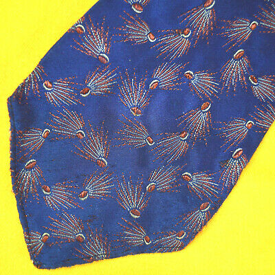 vtg 1920-30s Hollyvogue Art Deco Swing Necktie Brocade Space Age Shooting Stars