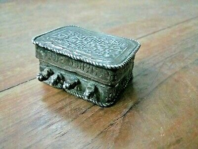 RARE EARLY !800c SILVER ISLAMIC MINIATURE AMULET PENDANT ARABIC HOLLY QURAN BOX