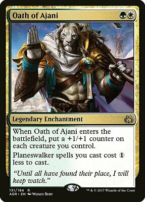 Ajani Unyielding Aether Revolt NM White Green Mythic Rare MAGIC CARD ABUGames