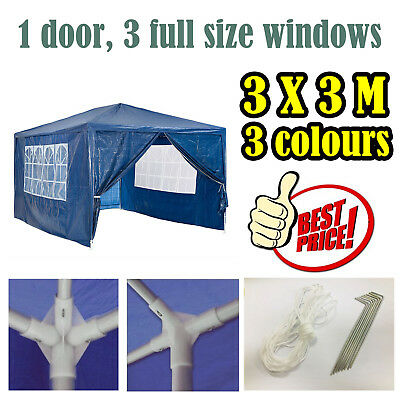 NEW Side Panel or Gazebo 3x3m PE Marquee or Tent Panels Awning Outdoor Party UK
