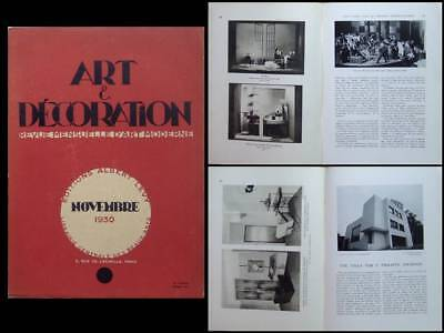 Art Et Decoration  - Novembre 1930 Louis Sognot, Charlotte Alix, Decor Theatre