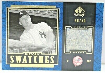 2003 MICKEY MANTLE SP LEGENDARY CUTS HISTORIC SWATCHES GU PANTS #d 49/50 YANKEE