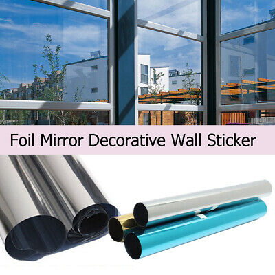 Window Tint One Way Mirror Film UV Heat Reflective Home Commercial Solar Office