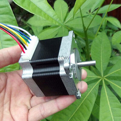 NEMA23 Stepper Motor 1.8° 2 phase 6 wire Dual Shaft 57mm Electric Motor for CNC