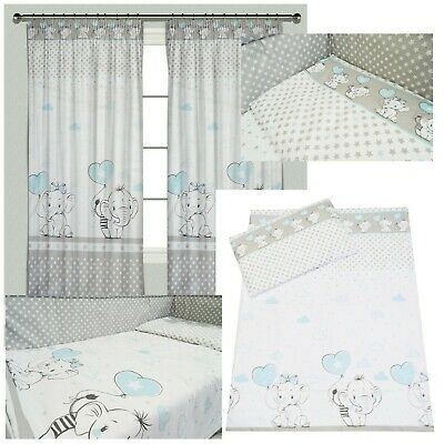 BABY Elephant Boy Bedding Set Duvet Covers/Curtains 90x120 100x135 120x150