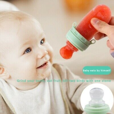 Kids Silicone  Nipple Feeder  Fruit Food Feeding Cartoon Pacifier Soft Safe US