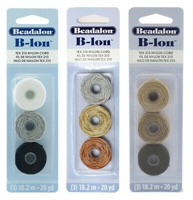 Beadalon® B-Lon™ Nylon Cord .020in/0.5mm Diameter 18m/20yd Each Spool