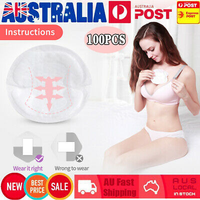 100pcs Soft Disposable Breast Pads Nursing Cover Maternity Breastfeeding Pads AU