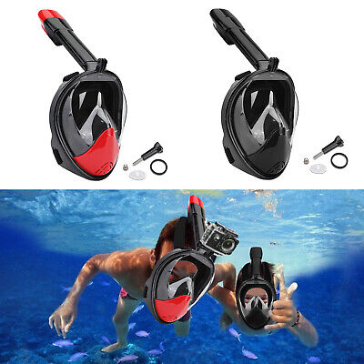 Full Face Snorkeling Diving Mask Snorkel Swim Goggles Anti Fog For GoPro B2