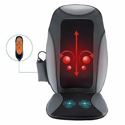 Electric Shiatsu Back Massager Massage Cushion Full Body Seat Pad Heat for Pain