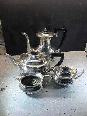 Cutlers Of Sheffield 4 Piece Silver Plated Tea Set  Vintage