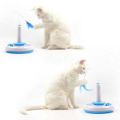 Feather Pet Interactive 360°Rotating Funny Electric Teaser Cat Toys Paly Toys