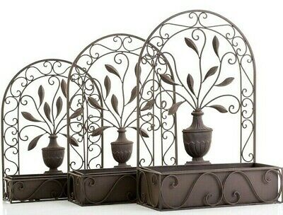 Arch Metal Wall Hanging Garden Flower Plant Pot Planter Baskets Choice of sizes