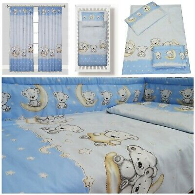 BLUE KOALA BEAR Boy Bedding Set Duvet Covers/Curtains 90x120 100x135 120x150
