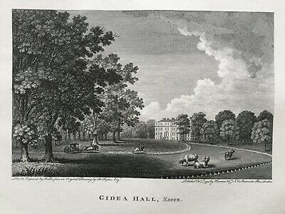 1794 Antique Print; Gidea Hall, Gidea Park, N.E. London after Humphry Repton