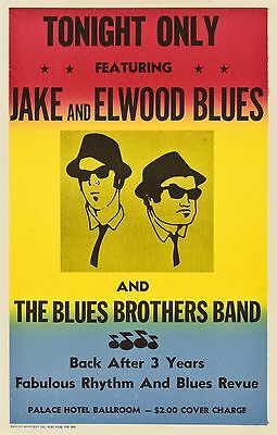 The Blues Brothers 1980 Retro Vintage Movie Poster A0-A1-A2-A3-A4-A5-A6-MAXI 205