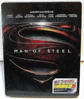 Man Of Steel from Japan* blu-ray steelbook.New and sealed.