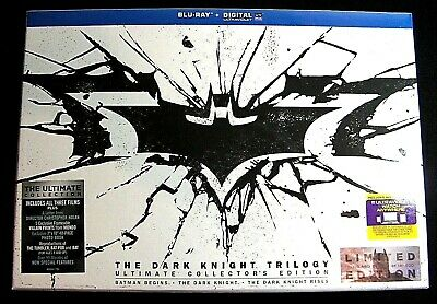 The Dark Knight Trilogy blu-ray with 6 discs,photo book,others..from Canada*.New
