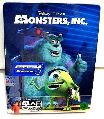 Disney Monsters Inc 1/4 slip version from KimchiDVD Korea* bluray steelbook.New.