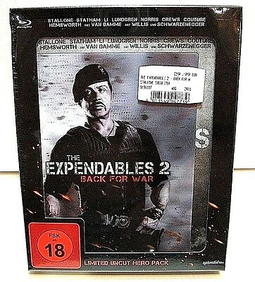 The Expendables 2 Hero Pack from Germany* blu-ray steelbook+ extras.New,sealed.
