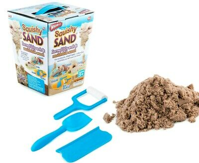 Squishy Sand Mould & Sculpt! 680g Plus 3 Tools Incredibly Soft Magic Sand Wham-O