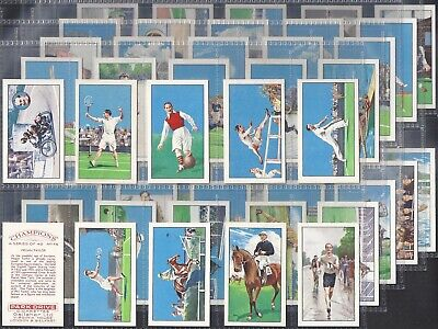 Gallaher-Full Set- Champions (1St Series No Captions 48 Cards) Dixie Dean Exc+++