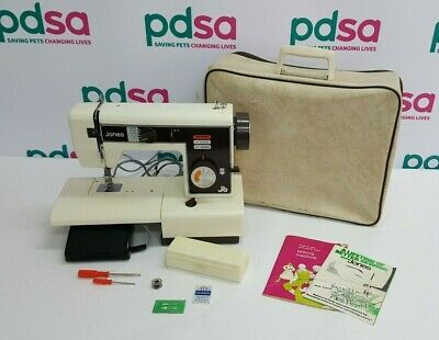"Vintage Jones ""VX520"" Electric Sewing Machine w. Foot Pedal & Carry Case - W1224"