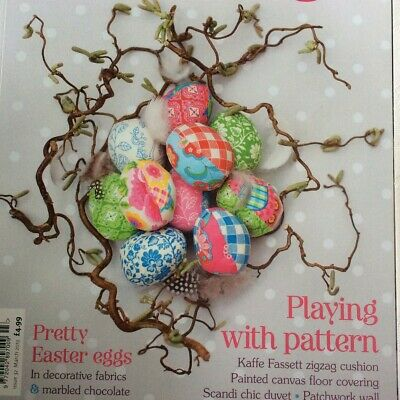 Crafts Sewing Making Magazine 2013 Mar Iss 32 Easter Eggs Canvas Floor Rug Duvet