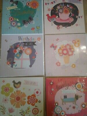 50 Square Poppy Davies Cards , Wholesale Joblot Greeting Cards