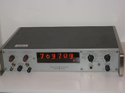 HP 5233L Electronic Counter NIXIE Tubes Display - Hewlett Packard 2MHz
