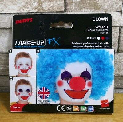 Smiffys Clown Face Paints Make Up Fx Brand New In Packet