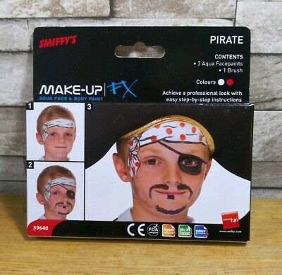 Smiffys Pirate Face Paints Make Up Fx Brand New In Packet