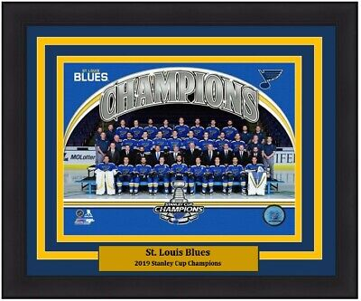 St Louis Blues 2019 Stanley Cup Champions Team Line-Up Hockey 8x10 Photo Picture