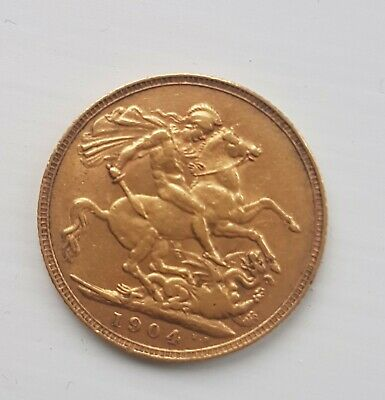 1904 Full Gold Sovereign. Edward V11. George And The Dragon