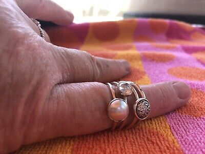 83b276a97e099 NEW AUTHENTIC PANDORA Poetic Droplet Ring - Sterling Pink 52 (US 6 ...